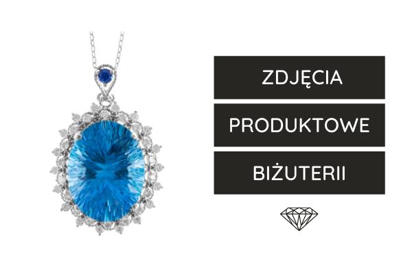 Zdjęcia produktowe biżuterii - packshot na białym tle.