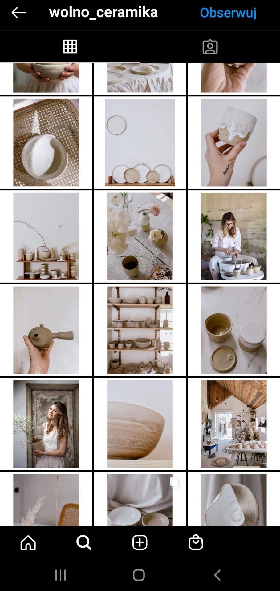 Przykład marki, która publikuje spójne zdjęcia na Instagramie.